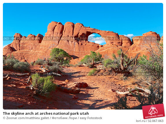 The skyline arch at arches national park utah. Стоковое фото, фотограф Zoonar.com/matthieu gallet / easy Fotostock / Фотобанк Лори