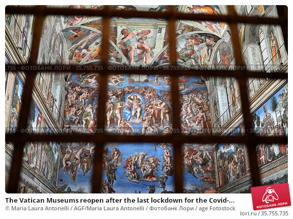 The Vatican Museums reopen after the last lockdown for the Covid-... Редакционное фото, фотограф Maria Laura Antonelli / AGF/Maria Laura Antonelli / age Fotostock / Фотобанк Лори