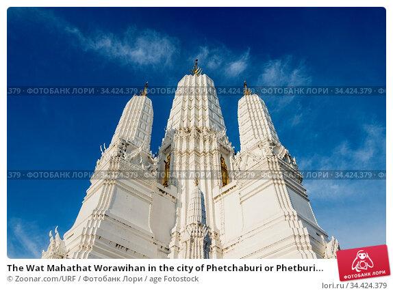 The Wat Mahathat Worawihan in the city of Phetchaburi or Phetburi... Стоковое фото, фотограф Zoonar.com/URF / age Fotostock / Фотобанк Лори