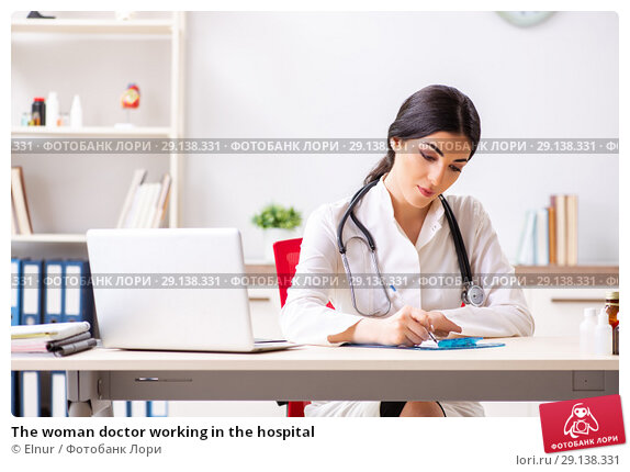 Купить «The woman doctor working in the hospital», фото № 29138331, снято 5 июля 2018 г. (c) Elnur / Фотобанк Лори