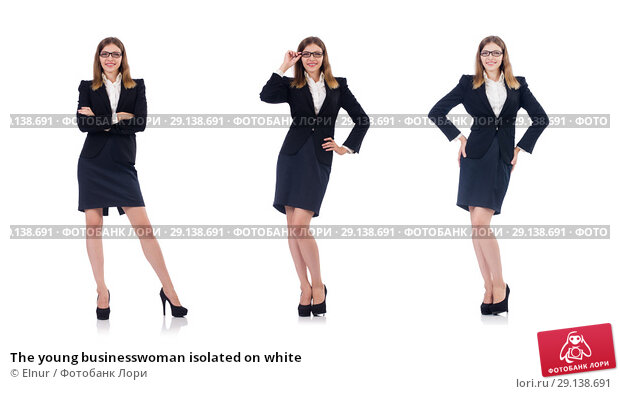 Купить «The young businesswoman isolated on white», фото № 29138691, снято 31 августа 2013 г. (c) Elnur / Фотобанк Лори