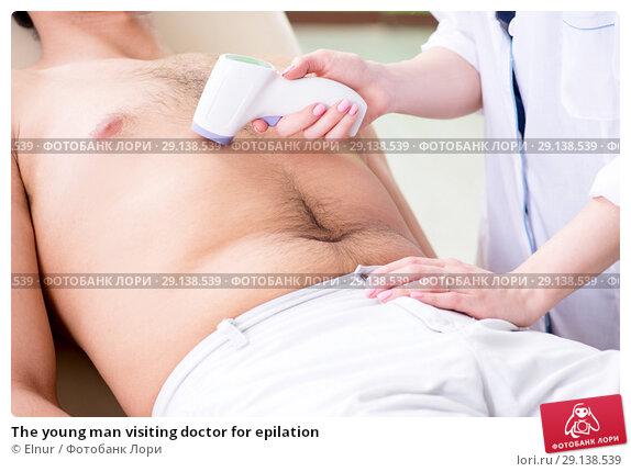 Купить «The young man visiting doctor for epilation», фото № 29138539, снято 6 июня 2018 г. (c) Elnur / Фотобанк Лори