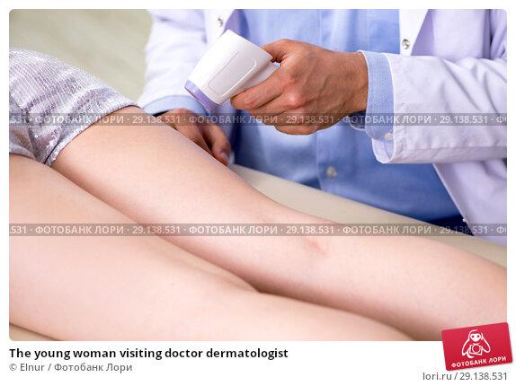 Купить «The young woman visiting doctor dermatologist», фото № 29138531, снято 6 июня 2018 г. (c) Elnur / Фотобанк Лори