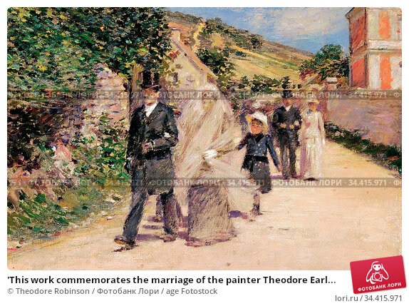 'This work commemorates the marriage of the painter Theodore Earl... Стоковое фото, фотограф Theodore Robinson / age Fotostock / Фотобанк Лори