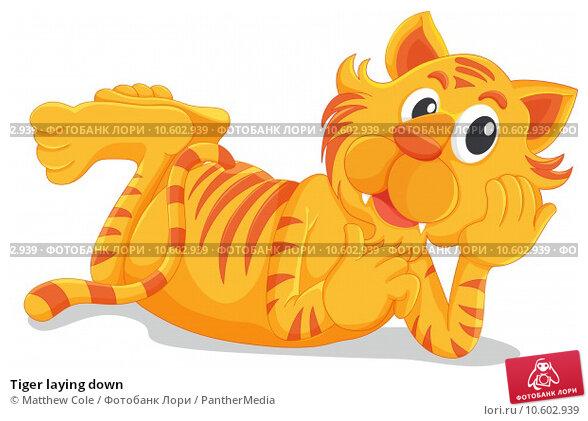 Tiger laying down. Стоковая иллюстрация, иллюстратор Matthew Cole / PantherMedia / Фотобанк Лори