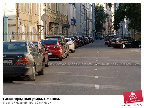 Тихая городская улица. г.Москва., фото № 315955, снято 8 июня 2008 г. (c) Сергей Лешков / Фотобанк Лори