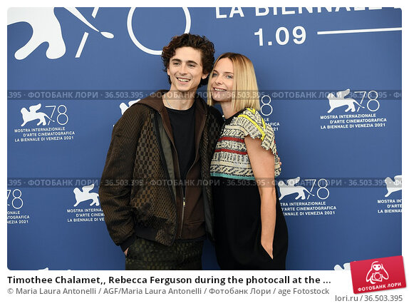 Timothee Chalamet,, Rebecca Ferguson during the photocall at the ... Редакционное фото, фотограф Maria Laura Antonelli / AGF/Maria Laura Antonelli / age Fotostock / Фотобанк Лори