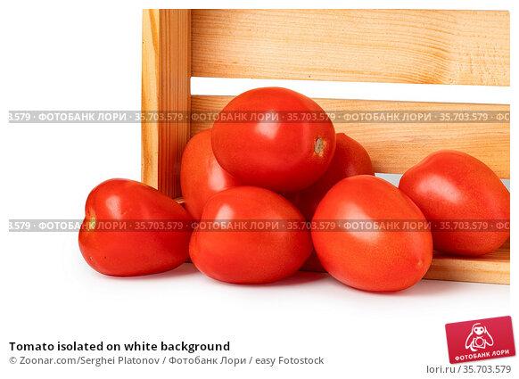 Tomato isolated on white background. Стоковое фото, фотограф Zoonar.com/Serghei Platonov / easy Fotostock / Фотобанк Лори