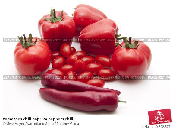 tomatoes chili paprika peppers chilli. Стоковое фото, фотограф Uwe Mayer / PantherMedia / Фотобанк Лори