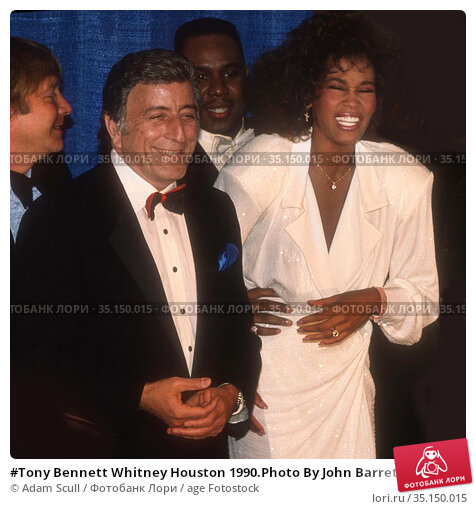 #Tony Bennett Whitney Houston 1990.Photo By John BarrettPHOTOlink... Редакционное фото, фотограф Adam Scull / age Fotostock / Фотобанк Лори