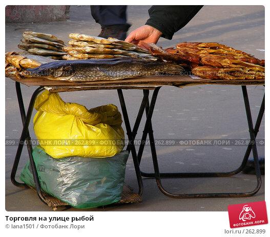 Торговля на улице рыбой, эксклюзивное фото № 262899, снято 23 апреля 2008 г. (c) lana1501 / Фотобанк Лори