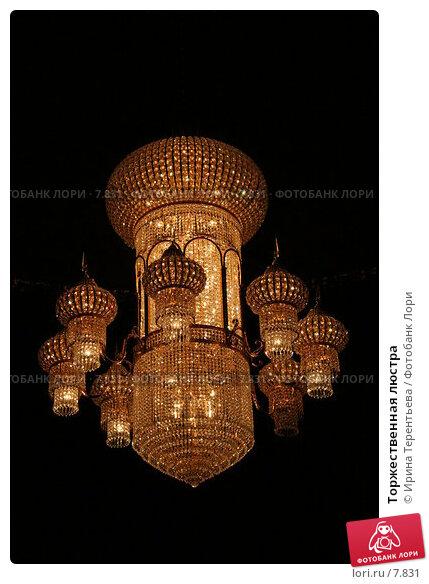 Купить «Торжественная люстра», эксклюзивное фото № 7831, снято 1 апреля 2006 г. (c) Ирина Терентьева / Фотобанк Лори