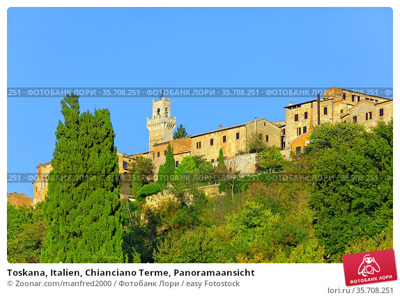 Toskana, Italien, Chianciano Terme, Panoramaansicht. Стоковое фото, фотограф Zoonar.com/manfred2000 / easy Fotostock / Фотобанк Лори
