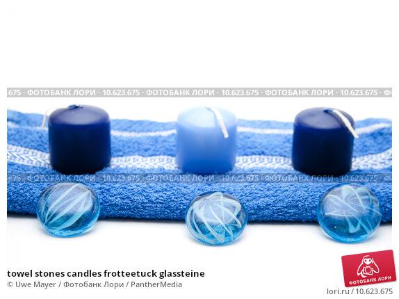 towel stones candles frotteetuck glassteine. Стоковое фото, фотограф Uwe Mayer / PantherMedia / Фотобанк Лори