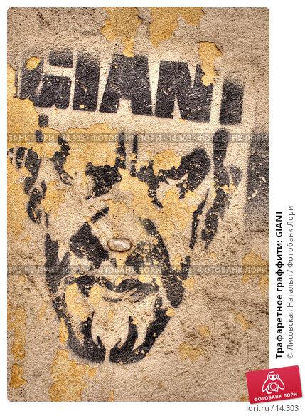 Трафаретное граффити: GIANI, фото № 14303, снято 28 октября 2016 г. (c) Лисовская Наталья / Фотобанк Лори
