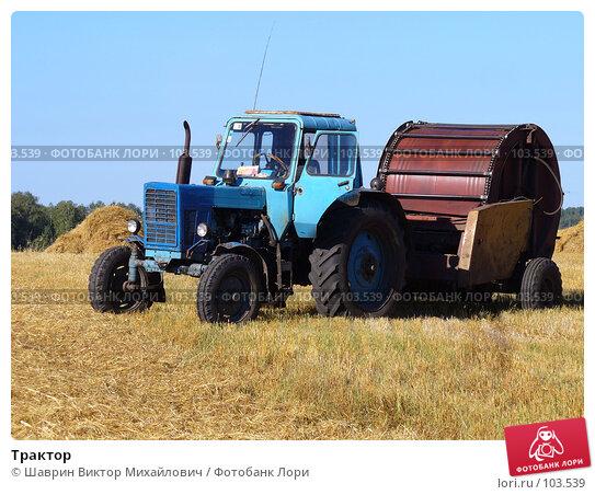 Купить «Трактор», фото № 103539, снято 21 ноября 2017 г. (c) Шаврин Виктор Михайлович / Фотобанк Лори
