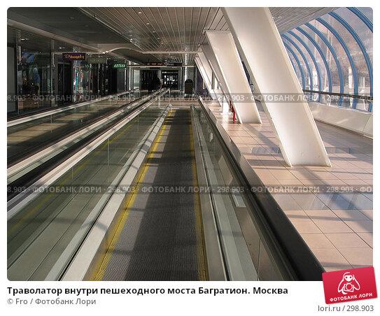 Купить «Траволaтор внутри пешеходного моста Багратион. Москва», фото № 298903, снято 3 апреля 2004 г. (c) Fro / Фотобанк Лори