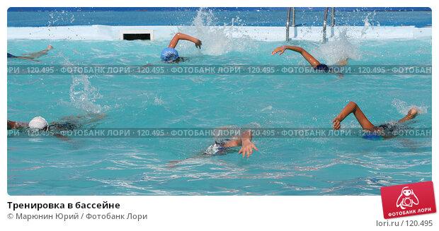 Купить «Тренировка в бассейне», фото № 120495, снято 24 августа 2007 г. (c) Марюнин Юрий / Фотобанк Лори