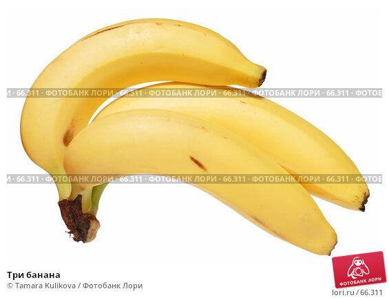 Три банана, фото № 66311, снято 28 июля 2007 г. (c) Tamara Kulikova / Фотобанк Лори