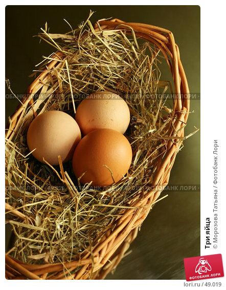 Три яйца, фото № 49019, снято 6 марта 2007 г. (c) Морозова Татьяна / Фотобанк Лори