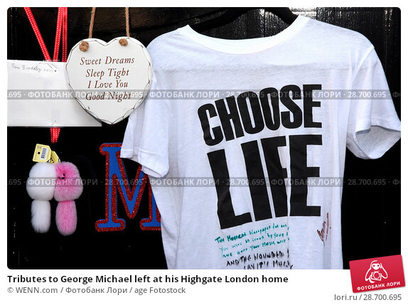 Купить «Tributes to George Michael left at his Highgate London home Featuring: Atmosphere, George Michael Where: London, United Kingdom When: 27 Dec 2016 Credit: WENN.com», фото № 28700695, снято 27 декабря 2016 г. (c) age Fotostock / Фотобанк Лори