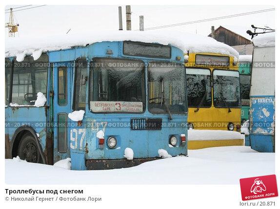 Троллебусы под снегом, фото № 20871, снято 2 марта 2007 г. (c) Николай Гернет / Фотобанк Лори