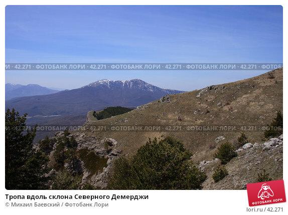 Тропа вдоль склона Северного Демерджи, фото № 42271, снято 5 мая 2007 г. (c) Михаил Баевский / Фотобанк Лори