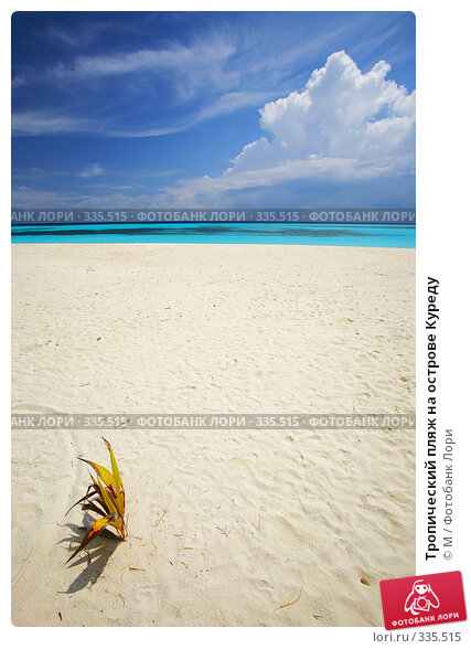 Тропический пляж на острове Куреду, фото № 335515, снято 18 января 2017 г. (c) Михаил / Фотобанк Лори