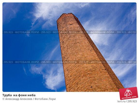 Купить «Труба  на фоне неба», эксклюзивное фото № 295923, снято 22 мая 2008 г. (c) Александр Алексеев / Фотобанк Лори