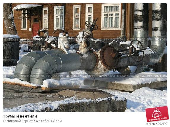 Купить «Трубы и вентили», фото № 20499, снято 28 февраля 2007 г. (c) Николай Гернет / Фотобанк Лори