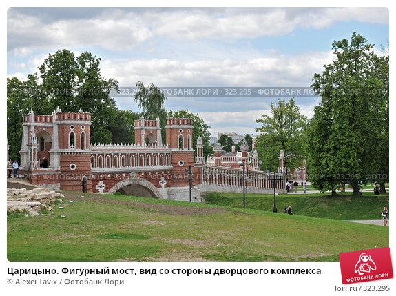 Царицыно. Фигурный мост, вид со стороны дворцового комплекса, эксклюзивное фото № 323295, снято 31 мая 2008 г. (c) Alexei Tavix / Фотобанк Лори