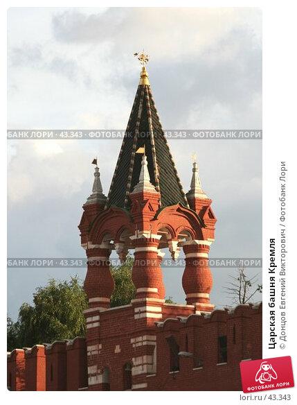 Царская башня Кремля, фото № 43343, снято 18 июля 2006 г. (c) Донцов Евгений Викторович / Фотобанк Лори