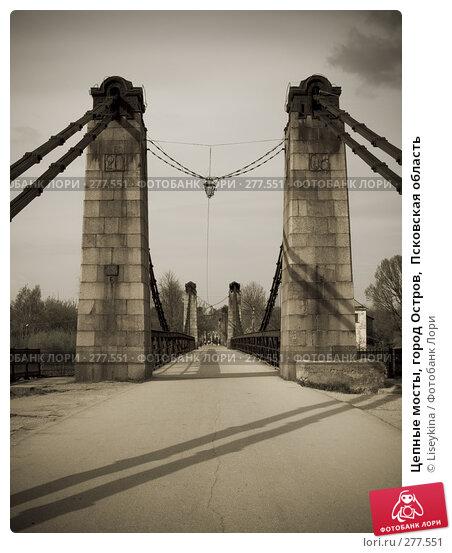 Цепные мосты, город Остров,  Псковская область, фото № 277551, снято 2 мая 2008 г. (c) Liseykina / Фотобанк Лори