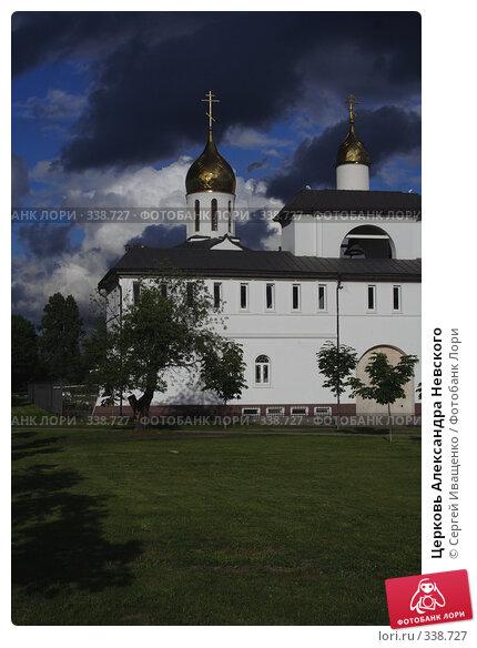 Купить «Церковь Александра Невского», фото № 338727, снято 21 ноября 2017 г. (c) Сергей Иващенко / Фотобанк Лори