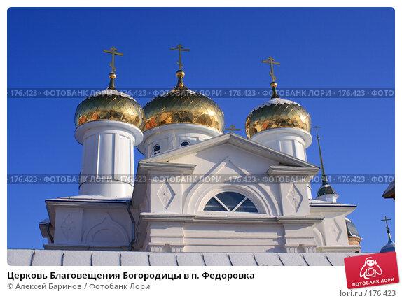 Церковь Благовещения Богородицы в п. Федоровка, фото № 176423, снято 7 января 2008 г. (c) Алексей Баринов / Фотобанк Лори