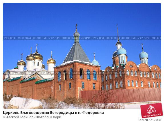 Церковь Благовещения Богородицы в п. Федоровка, фото № 212831, снято 7 января 2008 г. (c) Алексей Баринов / Фотобанк Лори