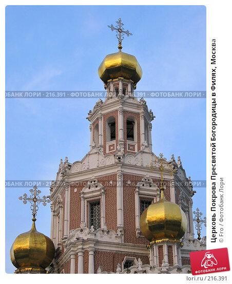 Церковь Покрова Пресвятой Богородицы в Филях, Москва, фото № 216391, снято 25 апреля 2004 г. (c) Fro / Фотобанк Лори
