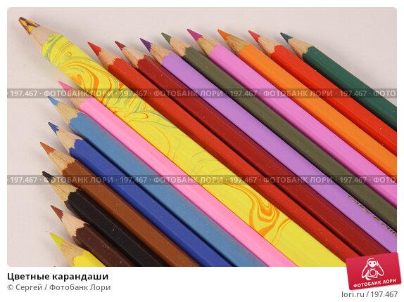 Цветные карандаши, фото № 197467, снято 3 февраля 2008 г. (c) Сергей / Фотобанк Лори