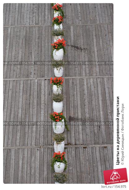 Цветы на деревянной пристани, фото № 154975, снято 25 августа 2007 г. (c) Юрий Синицын / Фотобанк Лори