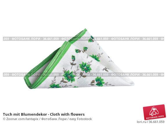Tuch mit Blumendekor - Cloth with flowers. Стоковое фото, фотограф Zoonar.com/lantapix / easy Fotostock / Фотобанк Лори
