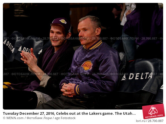 Купить «Tuesday December 27, 2016, Celebs out at the Lakers game. The Utah Jazz defeated the Los Angeles Lakers by the final score of 102-100 at Staples Center...», фото № 28700887, снято 27 декабря 2016 г. (c) age Fotostock / Фотобанк Лори