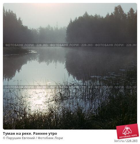 Туман на реке. Раннее утро, фото № 228283, снято 26 октября 2016 г. (c) Парушин Евгений / Фотобанк Лори