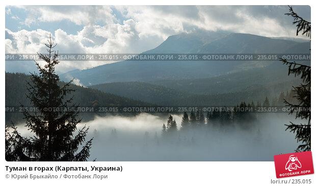 Купить «Туман в горах (Карпаты, Украина)», фото № 235015, снято 19 апреля 2018 г. (c) Юрий Брыкайло / Фотобанк Лори