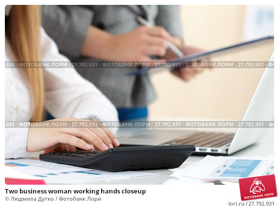 Купить «Two business woman working hands closeup», фото № 27792931, снято 26 мая 2016 г. (c) Людмила Дутко / Фотобанк Лори
