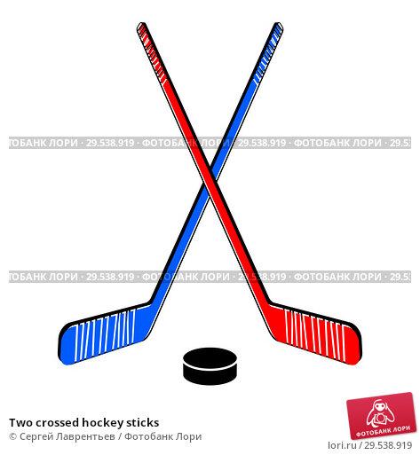 Купить «Two crossed hockey sticks», иллюстрация № 29538919 (c) Сергей Лаврентьев / Фотобанк Лори