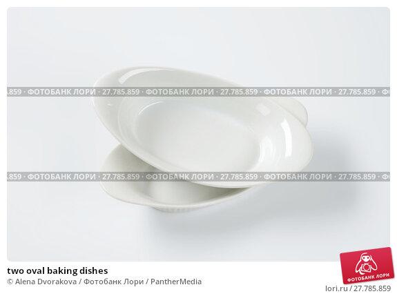 Купить «two oval baking dishes», фото № 27785859, снято 18 февраля 2018 г. (c) PantherMedia / Фотобанк Лори