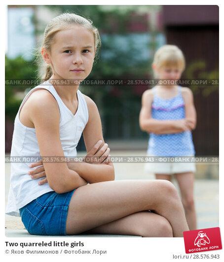 Купить «Two quarreled little girls», фото № 28576943, снято 20 июля 2017 г. (c) Яков Филимонов / Фотобанк Лори