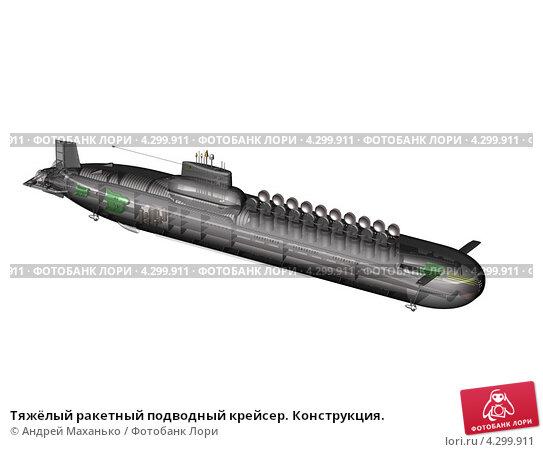 Тяжёлый ракетный подводный крейсер. Конструкция., иллюстрация № 4299911 (c) Андрей Маханько / Фотобанк Лори