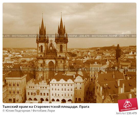 Тынский храм на Староместской площади. Прага, фото № 230479, снято 17 марта 2008 г. (c) Юлия Селезнева / Фотобанк Лори