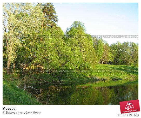 Купить «У озера», фото № 293603, снято 9 мая 2008 г. (c) Zlataya / Фотобанк Лори